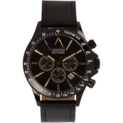 Jace - Dhaka Men's Leather Band Watch -  Jace Watches, WP1026-CB-DBG-BLBLK