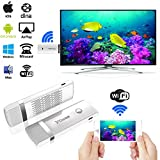 HDMI WIFI Display Dongle,Costech [Update Version] 2.4G WiFi Wireless 1080P Hdmi Streaming Media Dongle Miracast Device For iPhone/iPad/Mac Book, Android/OS/iOS/Mac OS/Windows Devices (White)