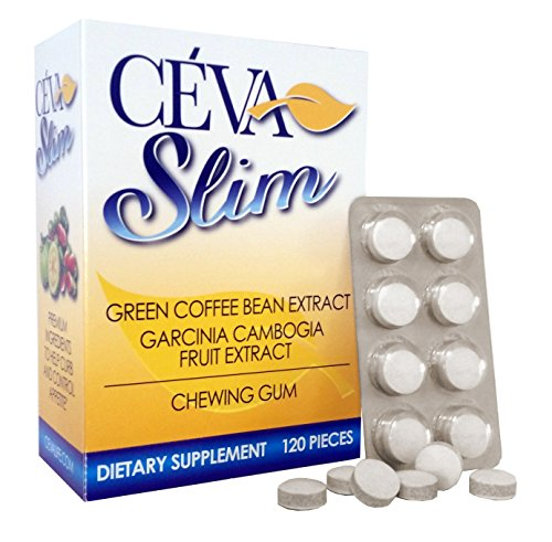 CevaSlim Chewing Gum - Diet Weight Loss Product. Garcinia Cambogia & Green Coffee Bean Extract-Appetite Suppressant That Works. Best Chewing Gum for Fastest & Easiest Diet & Weight Loss. For Women & Men Guaranteed. 30-Day Supply