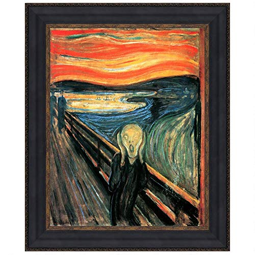 Design Toscano The Silent Scream Framed Replica Painting Wall Decor, 15 Inch, Small