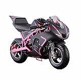XtremepowerUS 40CC 4-Stroke Gas Power Mini Pocket Motorcycle Ride-on, Pink/Black