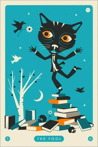 Posterlounge Cuadro de metacrilato 20 x 30 cm: The Fool Tarot Card Cat de Jazzberry Blue: Jazzberry Blue: Amazon.es: Hogar