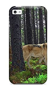 For Iphone 5c Tpu Phone Case Cover(wolf Animal Predator)