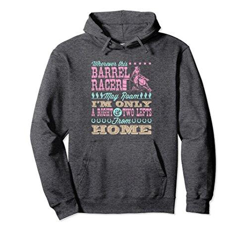 Unisex Barrel Racing Hoodie Gifts - Wherever This Barrel Racer Medium Dark (Barrel Sweatshirt)