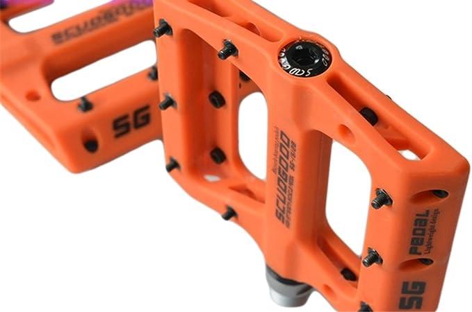 P/édale VTT Fesjoy VTT p/édale /à d/égagement Rapide p/édale de v/élo de Route Anti-d/érapant Ultra-l/éger VTT p/édales en Fiber de Carbone 3 roulements Pedale VTT