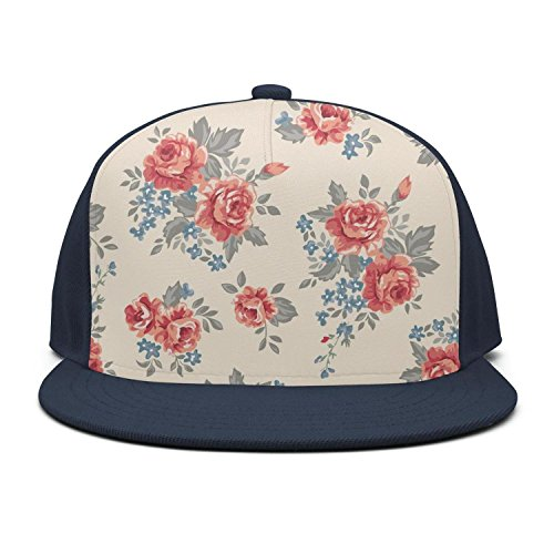 HASIDHDNAC Dark red Roses Bouquet Beautifu Fashion caps for Unisex