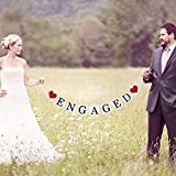 Engaged Banner Wedding Party Bunting Garland Vintage Engagement Decoration