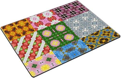 (MSD Place Mat Non-Slip Natural Rubber Desk Pads Design: 32636638 Set of Glass Mosaic kaleidoscopic Seamless generated)