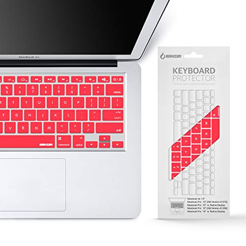 iBenzer MKC01RD Macaron Series Keyboard Cover for MacBook Pro 13