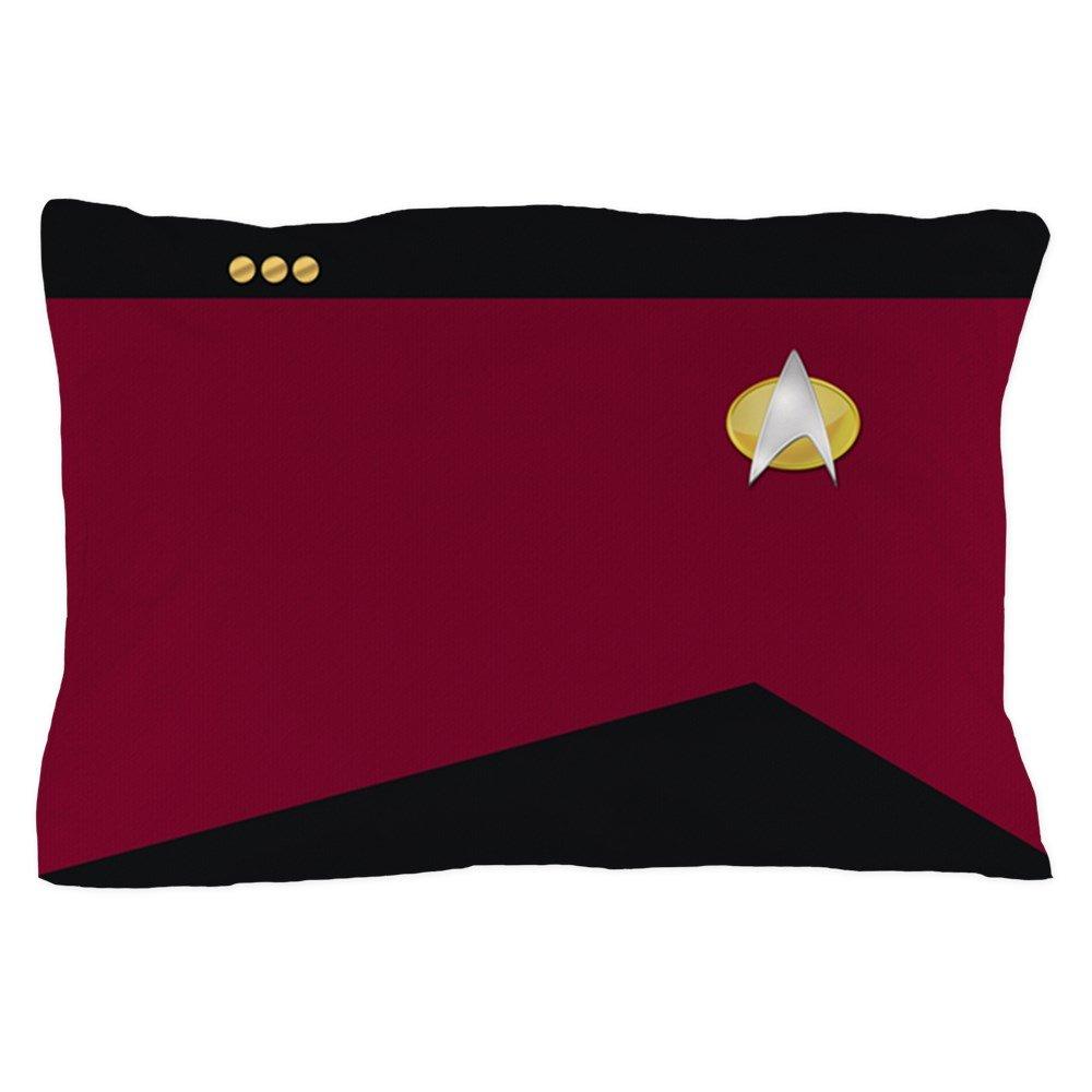CafePress - Star Trek: TNG Red Commander - Standard Size Pillow Case, 20''x30'' Pillow Cover, Unique Pillow Slip