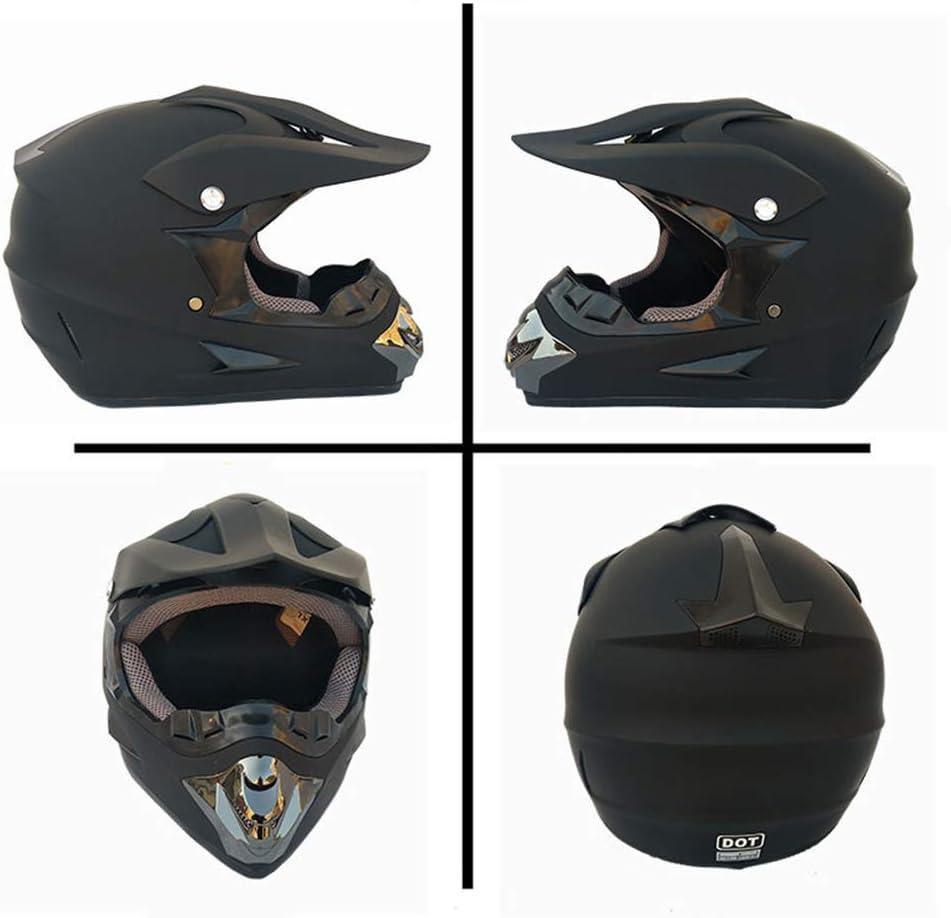 FrebAfOS Casque de Motocross Hors Route Casque Cadeau Lunettes Masque Gants Moto Racing Casque Plein Visage pour Homme et Femme,A,L