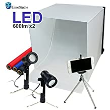 """LimoStudio 16"""" x 16"""" Table Top Photo Photography Studio Lighting Light Tent Kit in a Box, AGG349"""