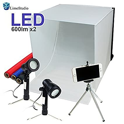 LimoStudio 16' x 16' Table Top Photo Photography Studio Lighting Light Tent Kit in a Box, AGG349