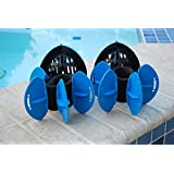 AquaLogix Total Body Aquatic Exercise System - Includes Online Demonstration Video with 30 Sample Exercises (All Purpose Black Bells/Maximum Resistance Blue Fins)