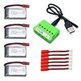 4pcs 3.7V 550mAh battery and 1to6 charger for AG-01 WIFI GV-AG01 GordVE GV561 rc quadcopter drone spare parts