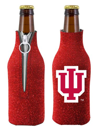NCAA Indiana University Glitter Bottle Coolie, One Size, - Mall Outlet Indiana