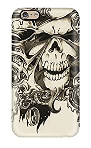 4736633K66716016 Hard Phone Case With Fashionable Look For Iphone 6 - Skull Dark Abstract Dark