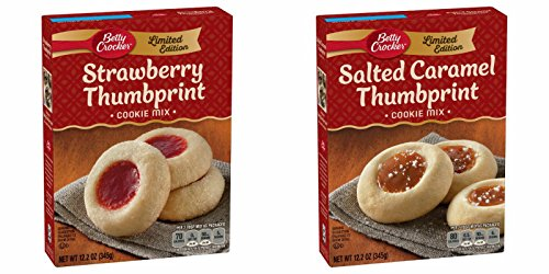 Betty Crocker Limited Edition Cookie Mix - Strawberry Thumbprint & Salted Caramel Thumbprint (Pack of 2)