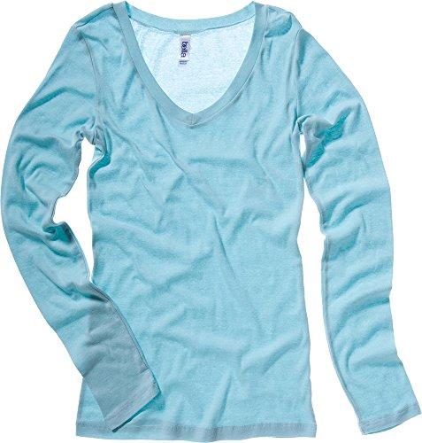 Bella Canvas - Camiseta de manga larga - para mujer Seafoam Blue