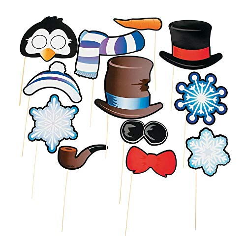 (Snowman & Penguin Photo Stick Props (12 Pack) 7