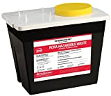 Bemis Healthcare 5002070-5 2 gal RCRA Hazardous Chemical Waste Container, Black (Pack of 5)