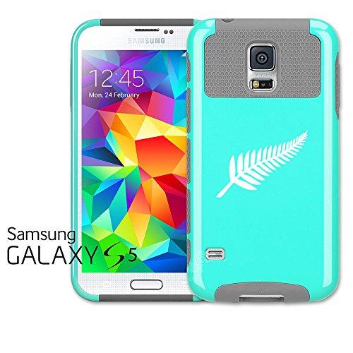 For Samsung Galaxy S5 Shockproof Impact Hard Case Cover New Zealand Silver Fern - & Grey Fern