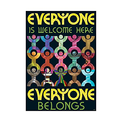 Multicultural Poster - Argus Everyone is Welcome here Poster, 13.375