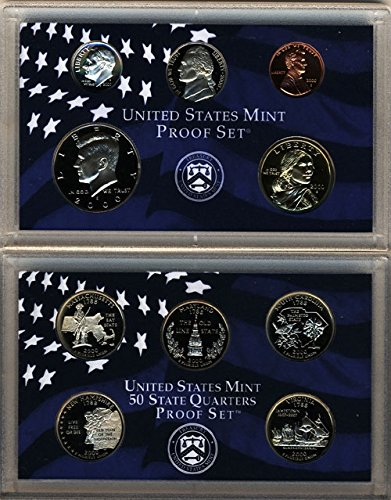 2000 S U.S. Mint 10-coin Clad Proof Set - OGP box & COA (2000 Proof Set)