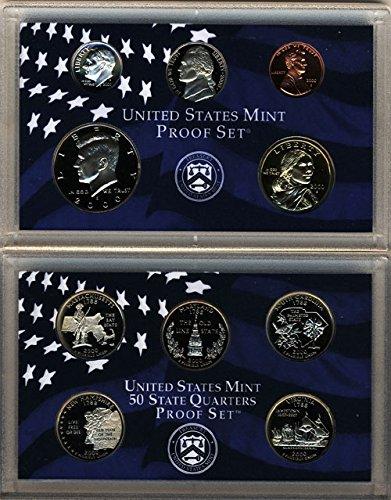 Mint Clad Us - 2000 S U.S. Mint 10-coin Clad Proof Set - OGP box & COA Proof