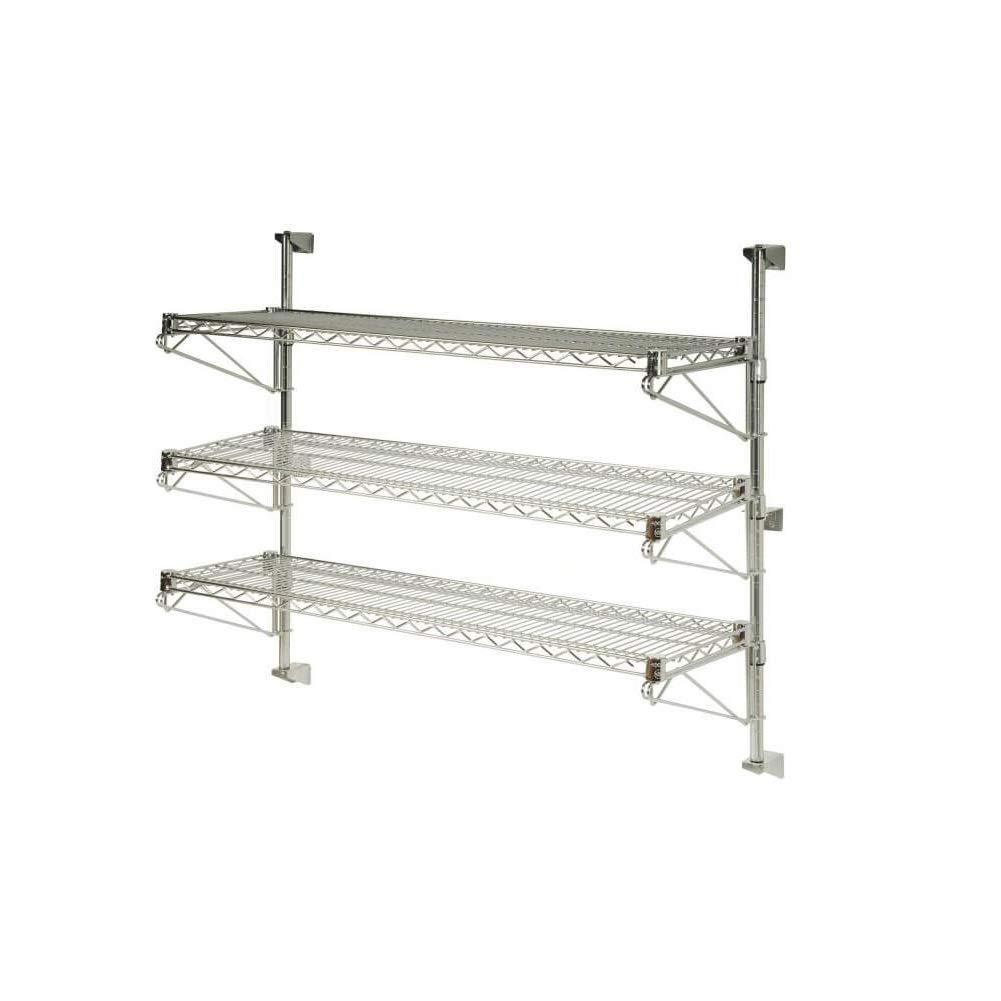 14 x 36 x 33 3 Tier Adjustable Wall Mount Shelving Kit