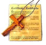 Large Christian Cross Olive Wood Pendant HJW