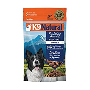 Freeze Dried Dog Food Topper By K9 Natural - Perfect Grain Free, Healthy, Hypoallergenic Limited Ingredients For All Dogs - Raw, Freeze Dried Mixer 67