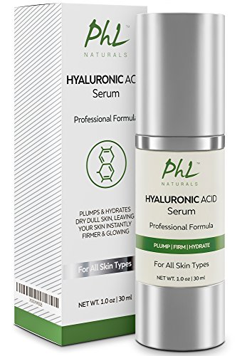 Hyaluronic Acid Serum for Face - with Vitamin C & E | Anti-Aging Hydration Serum- Deeply Hydrates & Plumps Skin to Fill in Fine Lines & Wrinkles - 1 fl oz