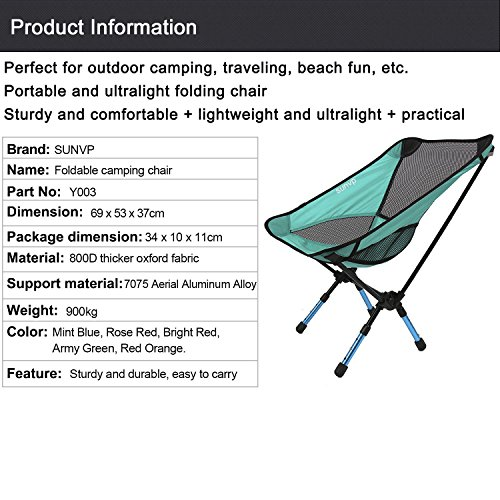 Huntvp Portable Ultralight Folding Chair for Picnic Fishing Camping Hiking BBQ Traveling Sports Chairs Ground Chair Reclining Camp Chair