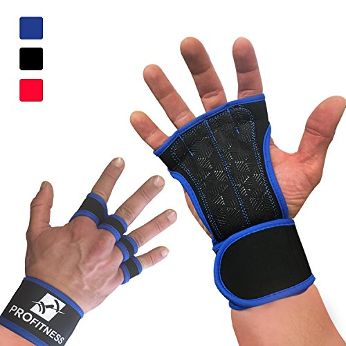 Workout Gloves Wrist Best Workout Gloves for Weight Lifting, Gym Workouts (Royal Blue, Large)