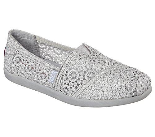 pour Skechers femme Mocassins Silber Sil argent vaRqwa