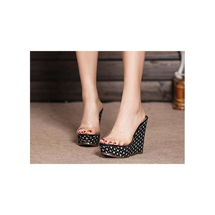 Bailing Pantofole Estive Delle Donne tallone D'argento Impermeabile fondo Basso sandali Femminili Sexy Dei Piccoli Di Formato Black Cn34