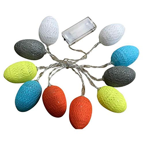 AISION 6ft Easter LED Egg String Lights with 10 Bulbs Party Decorative Lights from AISION