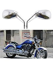 DREAMIZER Chrome Motorfiets Stuur Spiegels Achteruitkijkspiegel Zijspiegels voor Scooter Street Bike Cruiser Chopper Sport Bike ATV