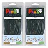Pawz Water-Proof Dog Boot, Black, Large (2 Pack)