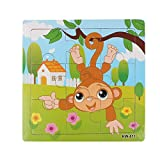 Jigsaw Puzzles for Toddlers 3 Years 9PCS Wooden Tiger Jigsaw Toys Education Learning Puzzles Toys