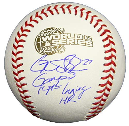 Geoff Blum Signed Rawlings 2005 World Series Baseball w/Game 3, 14th Inning ()