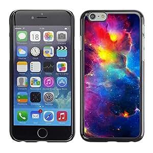 FECELL CITY // Duro Aluminio Pegatina PC Caso decorativo Funda Carcasa de Protección para Apple Iphone 6 Plus 5.5 // Vibrant Space Sky Universe Cosmos Nebulae