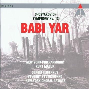 Sinfonie 13 - Babi Yar - Sergei Leiferkus, Dmitri Schostakowitsch ...
