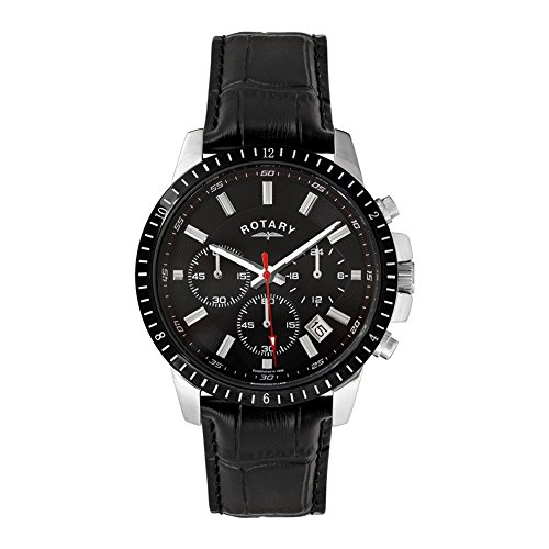 Rotary Men's GS00173-04 Black Genuine Leather Watch