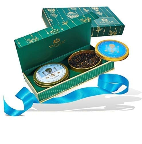 Tea Master's DUO - Best Tea Gift Set  | 2 Award Winning Tea Set Blends in a Presentation Box | OPRAH'S FAVORITE TEA BRAND GIFTS - Perfect Birthday Gifts for Men | Gifts for Dad