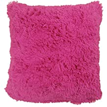 """SUPERSOFT FAUX FUR CERISE FUCHSIA PINK THICK FLUFFY WARM PILLOW CUSHION COVER 18"""" - 45CM"""