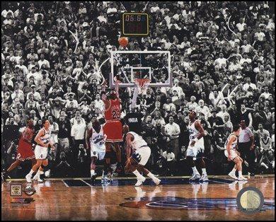 Michael Jordan 1998 NBA Finals Game Winning Shot Art Poster PRINT Unknown - Game Nba Finals 1998