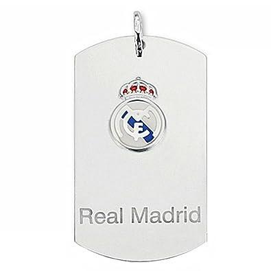 Chapa escudo Real Madrid Plata de ley grande esmaltada [6786] - Modelo: 30-009-C: Amazon.es: Joyería