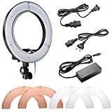 Neewer Camera Photo/Video 14 inches/36centimeters Outer 36W 180 Pieces LED SMD Ring Light 5500K Dimmable Ring Video Light with Plastic Color Filter Set and Universal Adapter with US/EU Plug